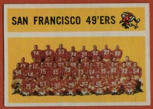 1960-Topps-122-San-Francisco-49ers-Team-EX-EXMINT-MARKED-Joe-Perry-FREE-S-H