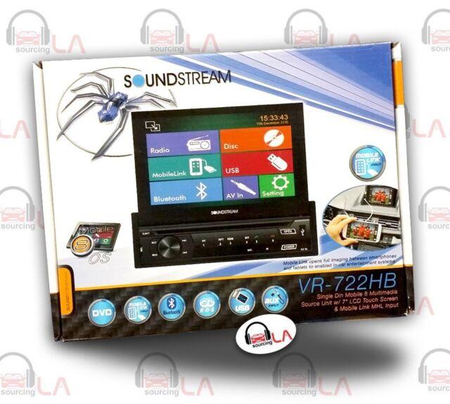 "Soundstream VR-722HB Single DIN 7"" Flip-Out Touchscreen DVD Receiver"