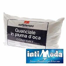 Cuscino Guanciale Gabel in vera PIUMA - PIUMINO D'oca Naturale Comfort 50x80 cm