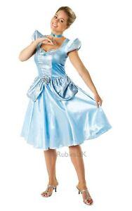 Details zu Damen Cinderella Disney Märchen Film Buch Prinzessin Kostüm Kleid Outfit
