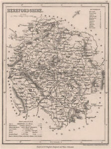 Seats Canals Polling Places 1845 Profit Small Herefordshire County Map By Dugdale/archer Europe Maps