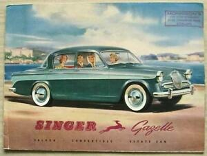 SINGER GAZELLE Car Sales Brochure c1959 #587/H SALOON Convertible ESTATE