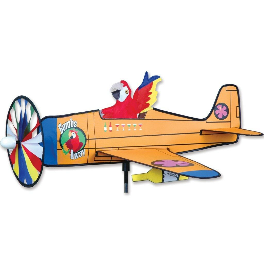 Bombs Away Replica Staked Airplane Wind Spinner With Pole & Mount..27.. PR 26315