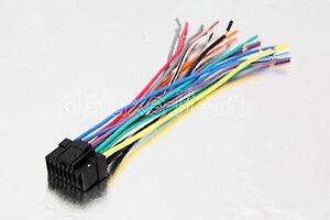 alpine car radio stereo 16 pin wire wiring harness 2 image is loading alpine car radio stereo 16 pin wire wiring