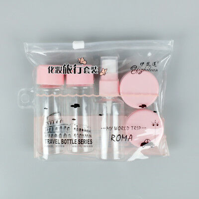 5Pcs/set Mini Clear Empty Cosmetic Container Spray Bottle Makeup Case Travel Set