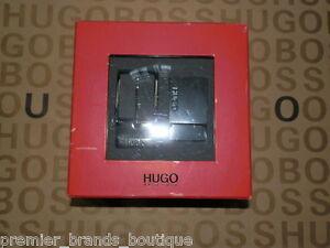 new hugo boss mens black leather red label dual buckle gun. Black Bedroom Furniture Sets. Home Design Ideas