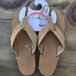 10cb2060a Image is loading Women-Rainbow-Sandals-Thick-Strap-Sierra-Brown-Premier-