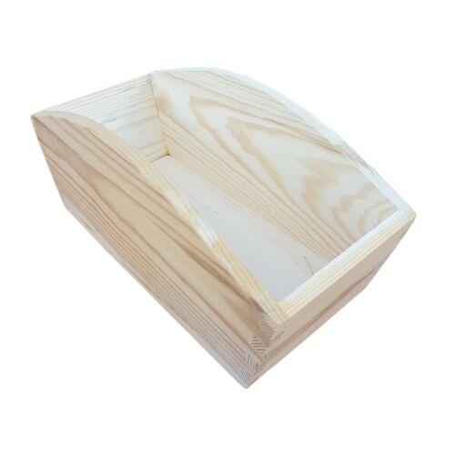 Plateau solide en bois pain 24cmx13cmx11cm découpage