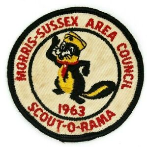 Vintage-1963-Scout-O-Rama-Skunk-Morris-Sussex-Area-Council-Patch-New-Jersey