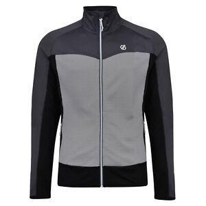 Details zu Dare 2b Riform Core Stretch Fleecejacke Herren Midlayer Fleece Jacke Sport grau