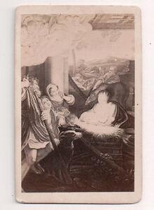 Vintage-CDV-Album-Filler-Birth-of-Jesus-by-Correggio