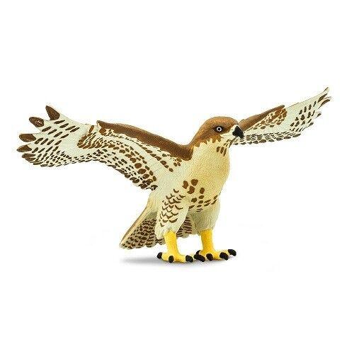 "Red Tailed Hawk Wings of the World Plastic Bird 5.5/"" Figure #151029 Safari Ltd"