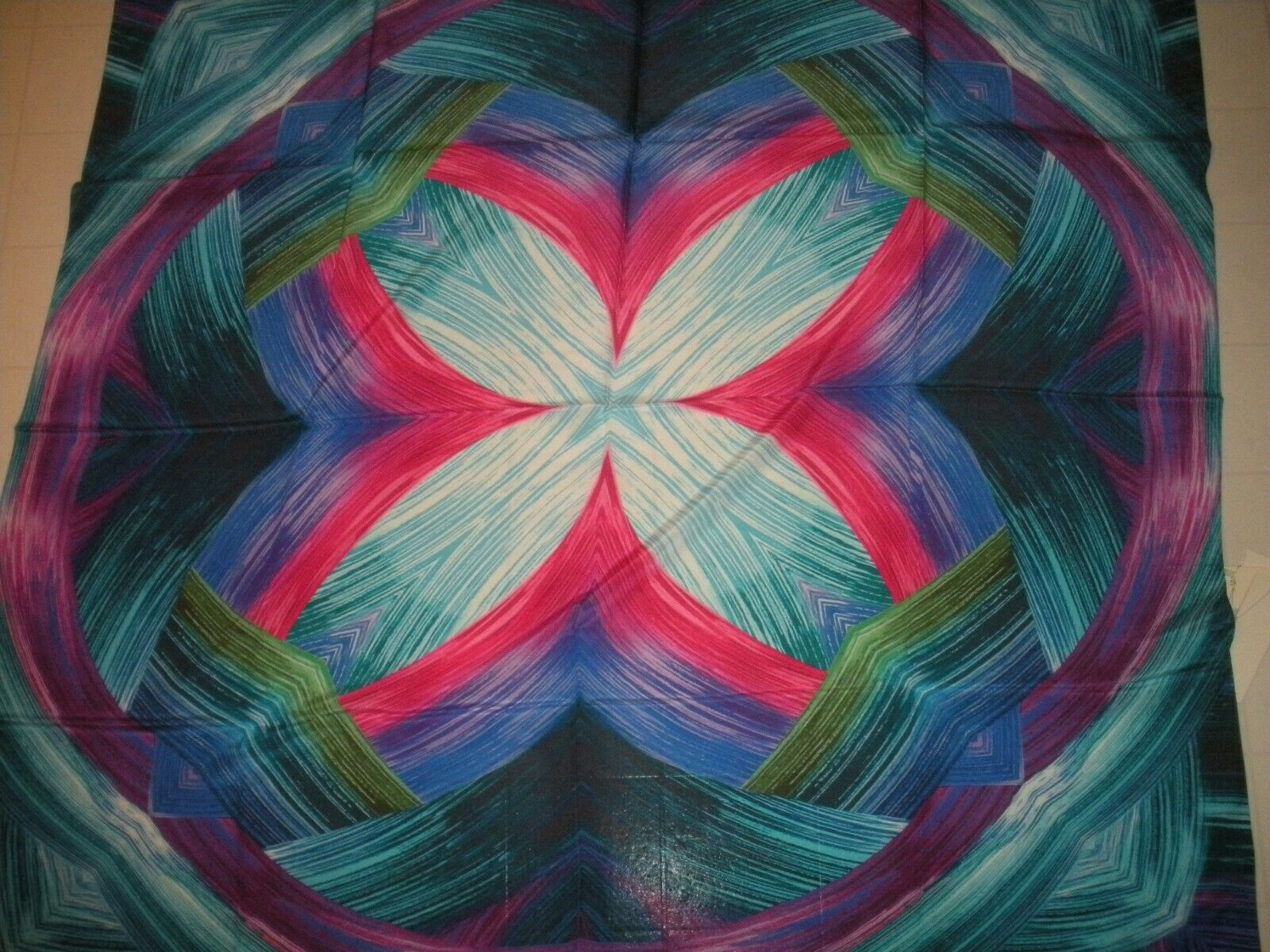 GOTTEX Multicolor Festival 100% Silk Swim Sarong Coverup Pareo One Size NWT