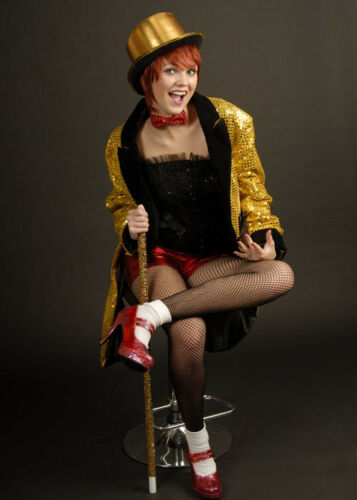 Ladies Columbia Rocky Horror Style Showgirl Costume