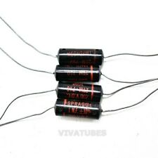 Lot Of 4x Sprague Black Beauty Axial Electrolytic Capacitors 1uf 200v