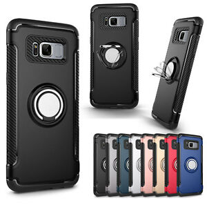 quality design 876b9 71871 Details about Shockproof Magnet Ring Buckle Stand Holder Case Cover For  Samsung Galaxy S7/Edge