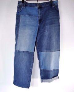 Lane-Bryant-Blue-Jeans-Plus-Size-Denim-Capri-Weekend-Pants-Stretch-Patchwork-26