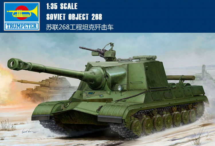 05544 Trumpeter 1 35 Model Soviet Object 268 Heavy Tank Plastic Kit Armored Car