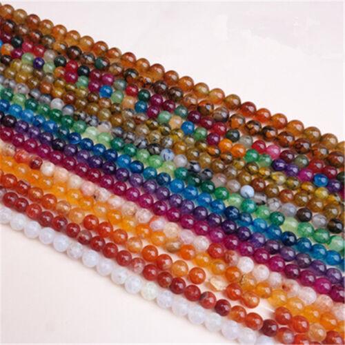 Wholesale Dragon Veins Agate craked Verre Cristal Gemstone Bead Jewelry Findings