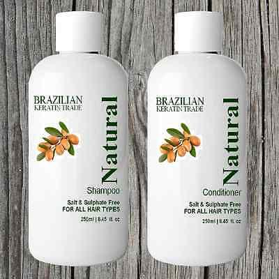 SALT FREE SULPHATE FREE SHAMPOO CONDITIONER FOR BRAZILIAN KERATIN TREATMENT HAIR