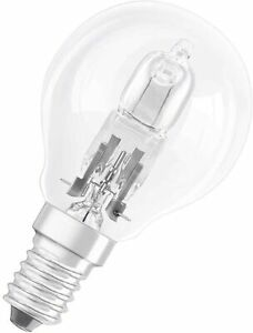 Details about 4 x OSRAM Classic Eco Superstar 42W (=55W) Golf Ball SES E14 Halogen Energy S...