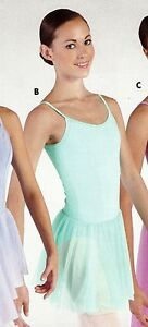 NWT-Short-Circle-Chiffon-Skirts-Many-Colors-Adult-Child-Sizes-2-Layer-Ballet