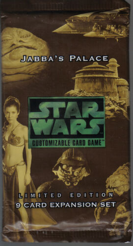 STAR WARS CCG JABBA/'S PALACE BLACK BORDER SEALED BOOSTER PACK OF 9 CARDS
