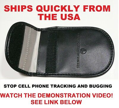 Cell Phone RF Signal Blocker/Jammer Pouch. Stop Cell Phone Tracking and Bugging.
