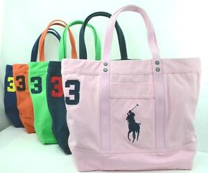 Ralph Lauren Pony Canvas Handbag Pink