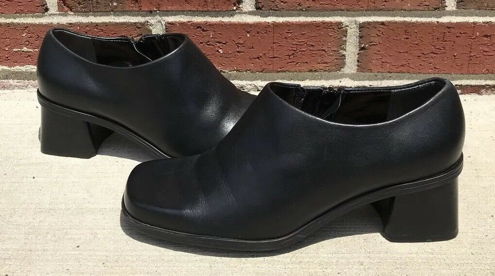 Naturalizer Black Leather Ankle S37 Booties Womens Size 7.5 W S37 Ankle 805A54 6cf4ff