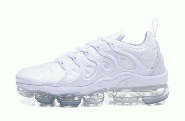 2473727b28e Nike Air Vapormax Plus Triple White Pure Platinum 924453-100 Men s Size 10