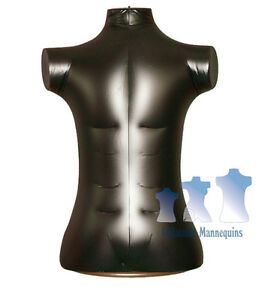 Ivory And Wood Table Top Stand Brown Inflatable Male Torso