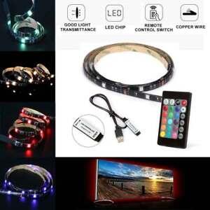 LED-Beleuchtung-LED-Stripe-1-2m-Lichtkette-mit-Fernbedienung-Usb-TV-Beleuchtung