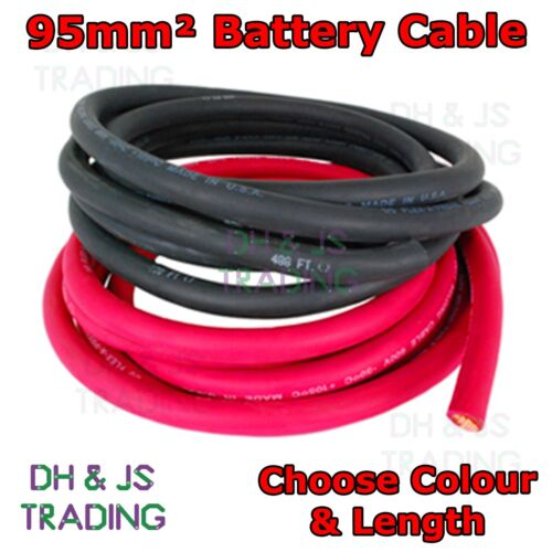 95MM Battery Cable 500A Flexible PVC Battery Welding Cable Black Red OFC 95mm²