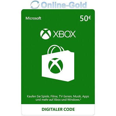 Xbox Live Card - 50 Euro Microsoft Guthaben - ms Xbox 360 / Xbox One Live Card