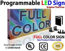 "FULL COLOR LED SIGN 76""X12"" VIDEO INAGE LOGO OPEN SIGN SCROLLING MESSAGE DISPLAY"