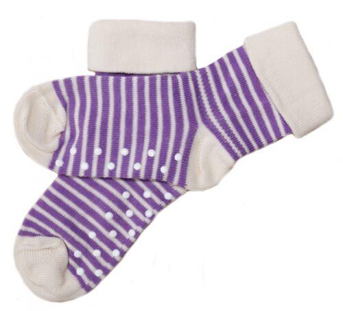 Baby Kinder Ringel Stoppersocken Bio-Baumwolle ABS Antirutsch Socken 1 bis 6Paar