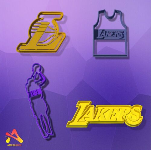 Los Angeles Lakers Cookie Cutter Set x 4
