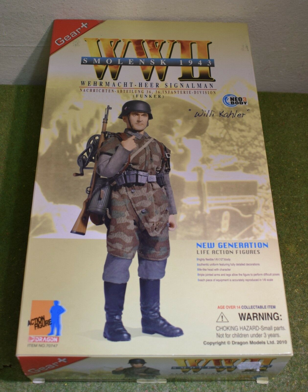 DRAGON 1/6 SCALE WW II GERMAN WILLI KAHLER 70747 WEHRMACHT-HEER SIGNALMAN