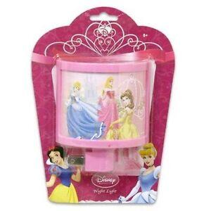Disney Princess Curved Night Light Nightlight Kids Bedroom
