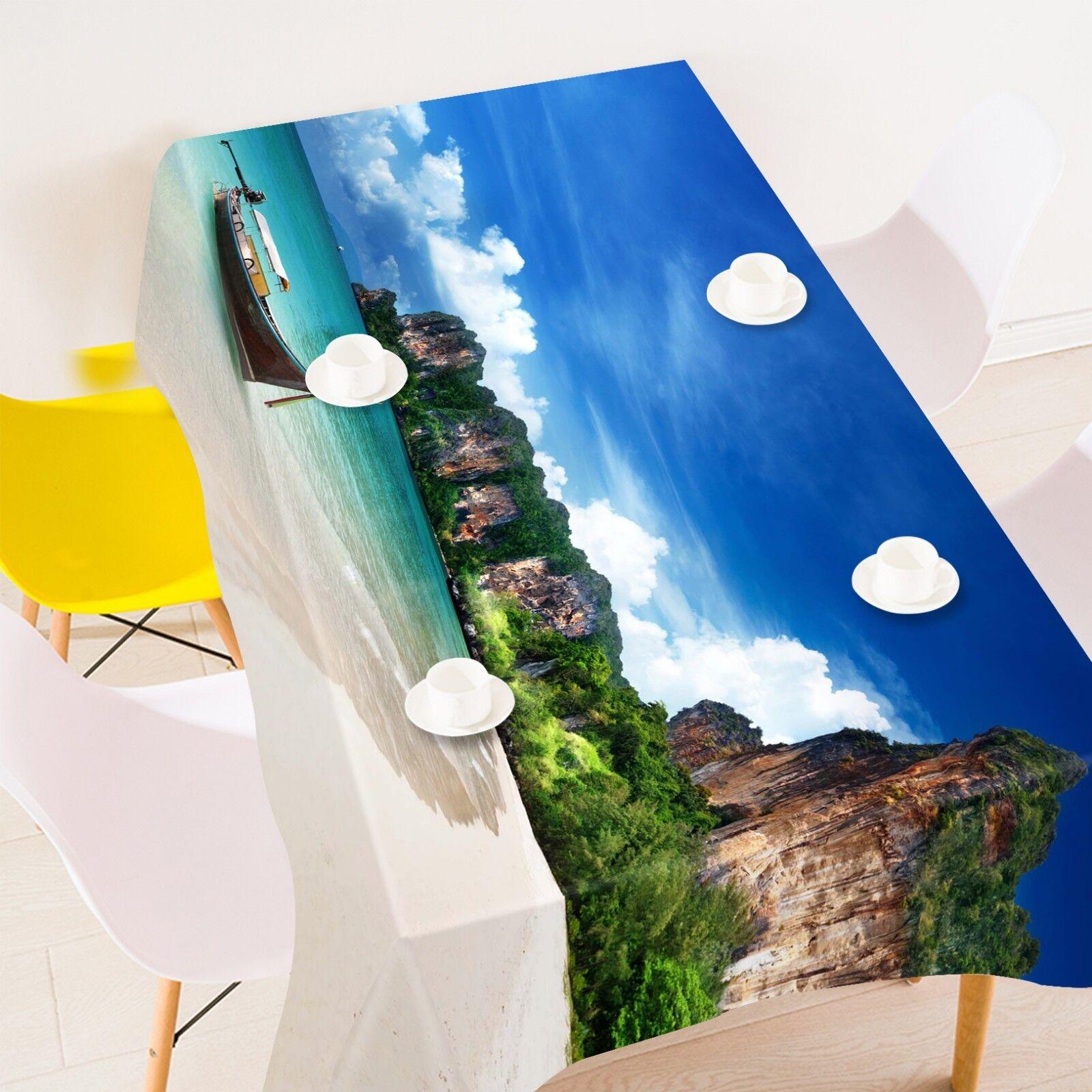 3D Sea Beach Sky 065 Tablecloth Table Cover Cloth Birthday Party Event AJ Lemon