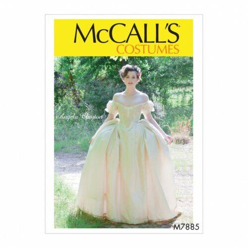 Disfraces E5 14-16-18-20-22 Mccalls patrón de costura 7885 vestidos