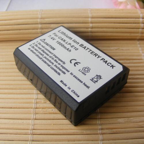 Recargable Batería De Li-Ion PARA Canon LP-E10 LPE10 EOS 1100 Kiss X50 Rebel T3 D