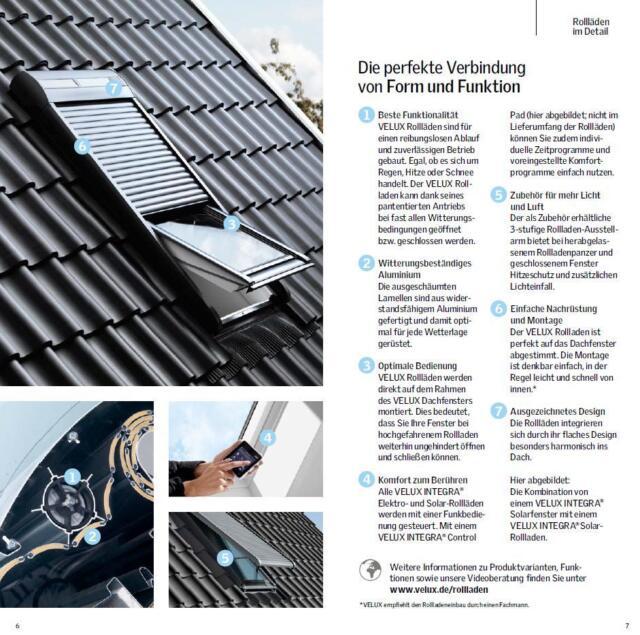 Gut gemocht VELUX Rollladen Solar SSL MK06 0000S Aluminium -Dunkelgrau günstig BD47