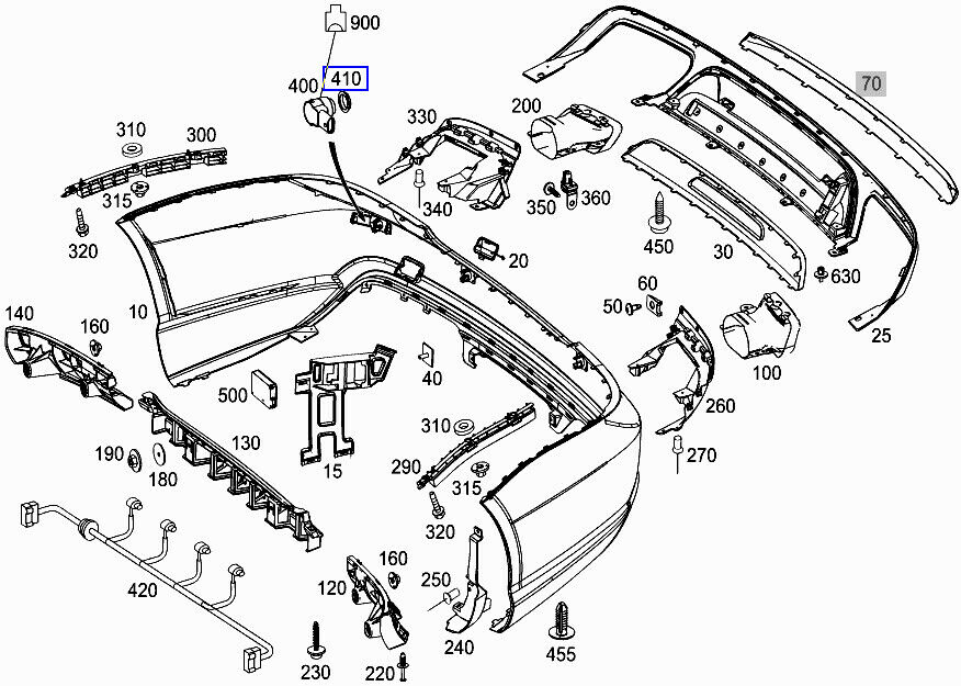 MERCEDES Pdc Pts Sensore di parcheggio Guarnizione Anello Guarnizione Rondella A0005421251