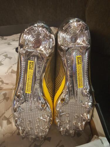 Under Armour UA Spotlight MC cleats size 9 Yellow//Black 3021731-700 football