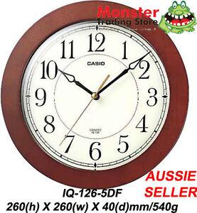 AUSSIE-SELER-CASIO-WALL-CLOCK-IQ-126-5DF-SILENT-NO-TICKING-SOUND-12-MONTH-WARNTY