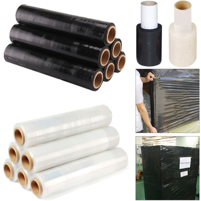 1 Roll Black Stretch Shrink Wrap Film 400mmX250m 20mic