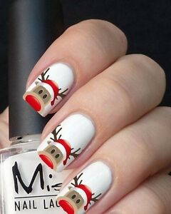 Image Is Loading Christmas Nail Art Wraps Water Nails Transfers Decals