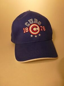 Chicago Cubs 1876 Baseball Hat Kids One Size Blue w Red White Letter ... 49df2de5386